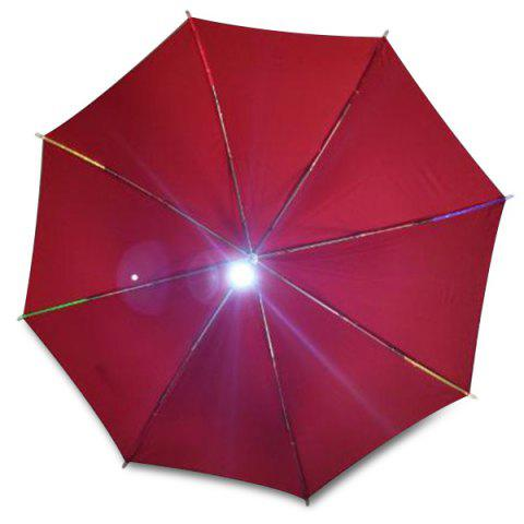 Creative LED Light Glowing Umbrella - RED