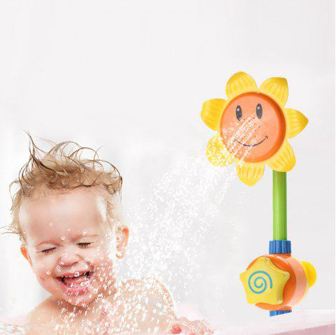 Baby Sunflower Shower Water Spray Bath Toy - YELLOW