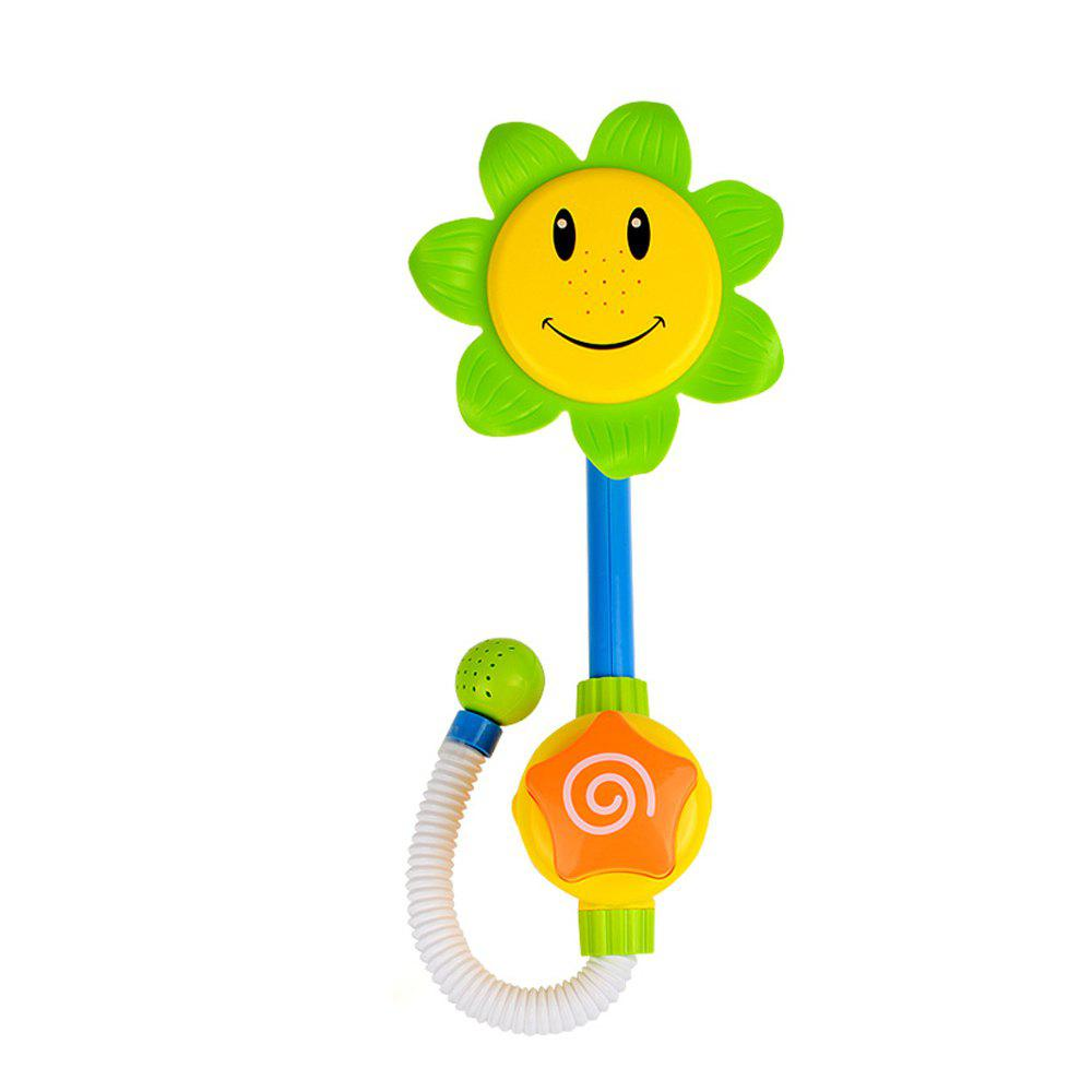 Baby Sunflower Shower Water Spray Bath Toy children swimming bath toy electric shower spray starfish