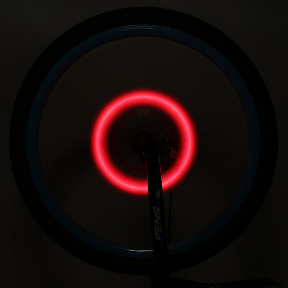 Creative Bicycle Spoke Willow Leaf Shape Flash Lamp - RED