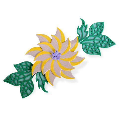 Flower and Leaf Pattern Embossing Cutting Dies for DIY Scrapbook Album Paper Card Making - SILVER