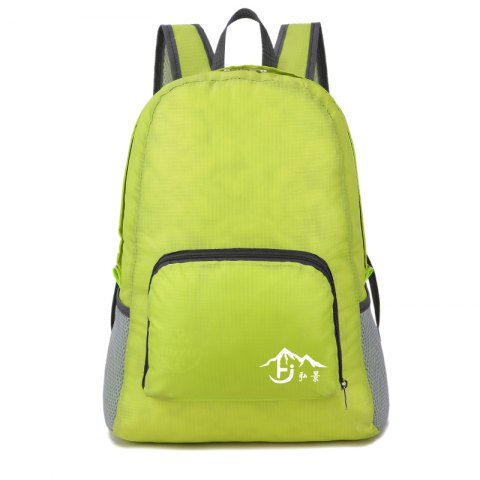 Fashion Men Foldable Backpack - PISTACHIO GREEN