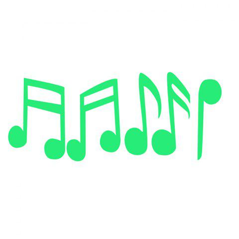 Creative Musical Note Night Glow Decorative Wall Sticker - JADE GREEN