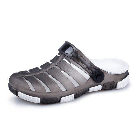 Men Cool Hollow-out Beach Dual-use Slippers Sandals - GRAY 41