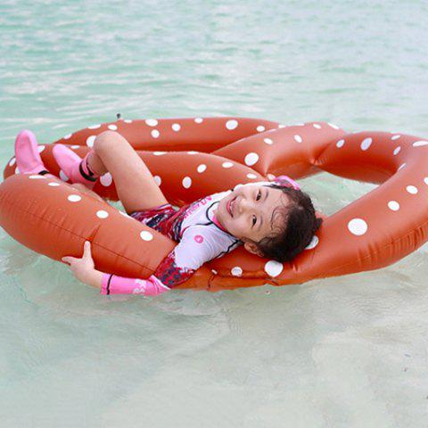 Portable Inflatable Doughnut Floating Row for Summer Party Beach Holiday - MAHOGANY