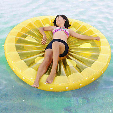 Portable Inflatable Lemon Floating Row for Summer Party Beach Holiday