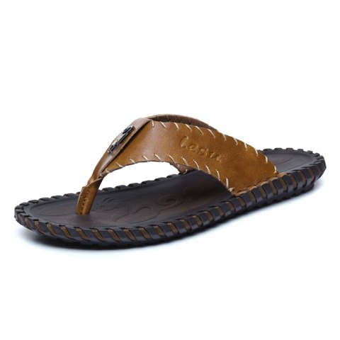 Trendy Summer Breathable Slippers for Men - LIGHT BROWN 43