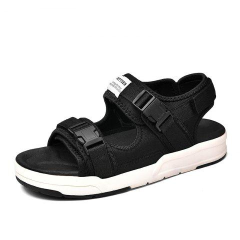 Surom Men Stylish Comfortable Sandals for Beach - BLACK 42