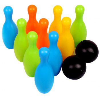 Educational Bowling Balls Toy Child - multicolor