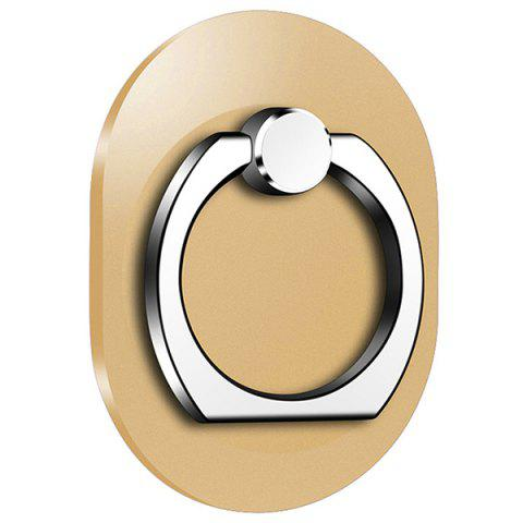 Oval 360 Degree Mobile Finger Ring Holder Mobile Phone Stand - CHAMPAGNE GOLD
