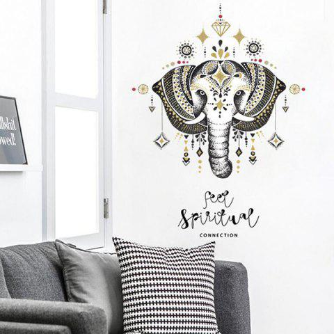 SK7168  Elephant Nordic Style 3D Decorative Wall Sticker for TV Background Bedroom - BLACK