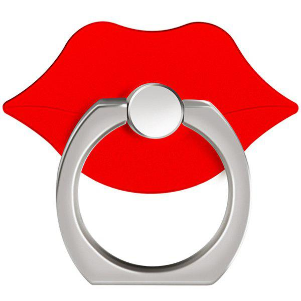 360 Degree Rotating Cute Lip Cell Phone Finger Ring Holder Stand - RED