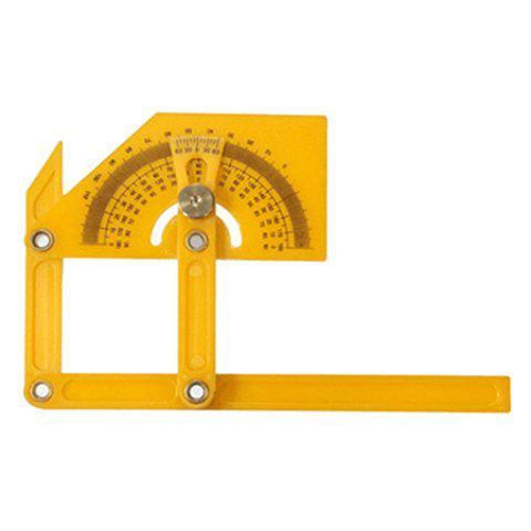 180-degree Angle Finder Plastic Ruler Flexible Calibration Protractor - YELLOW