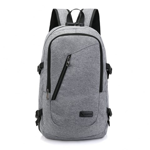 Canvas Water Resistance Fashion Backpack - CLOUDY GRAY