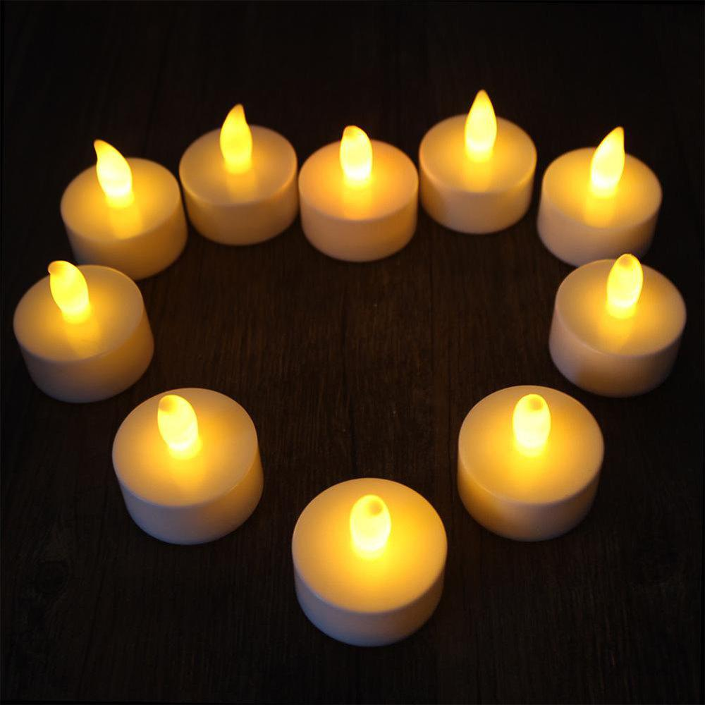 10PCS Romantic Wedding Decor Flameless LED Candle Light led candle light wedding birthday decor electronic led candle light smokeless flameless candle electronic pillar candle for home