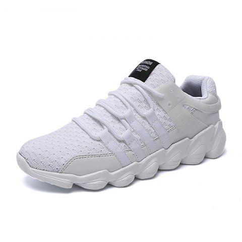 Men Breathable Outdoor Casual Shoes - WHITE 48