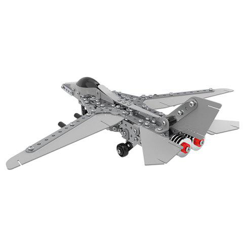 MoFun SW - 022 Alloy Building Blocks Bomber Toy for Children 470PCS - PLATINUM