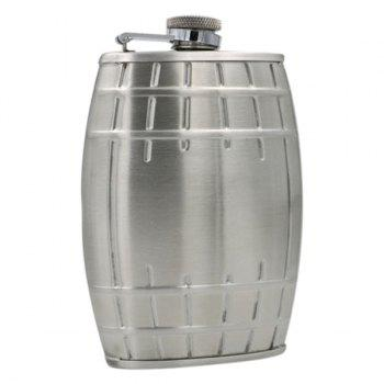 6 Ounce Stainless Steel Bucket Shape Wine Pot with Keychain - SILVER