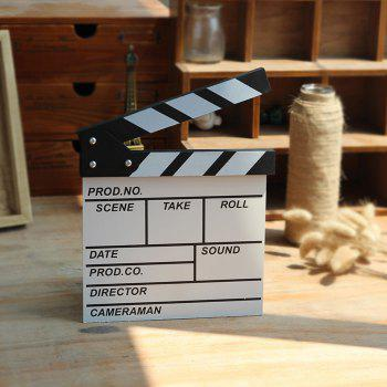 Director Clapper Board Shooting Props Wood Decoration - WHITE