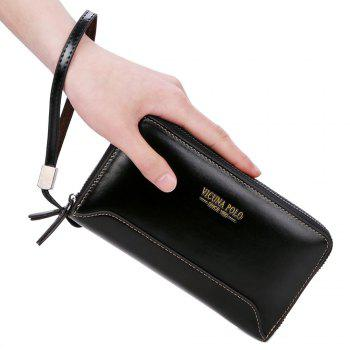 VICUNAPOLO Trendy Multifunctional Clutch Wallet for Men - BLACK