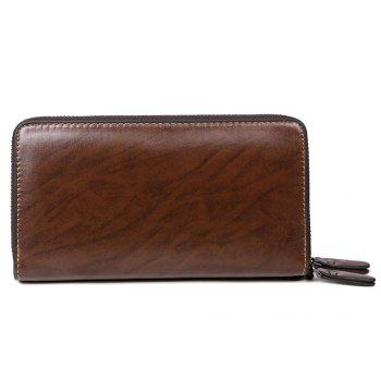 VICUNAPOLO Trendy Multifunctional Clutch Wallet for Men - BROWN