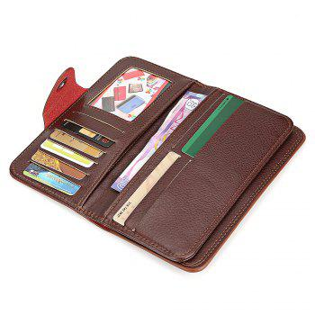 Leather Business Wallet - BLACK