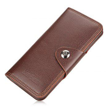 Leather Business Wallet - SEPIA