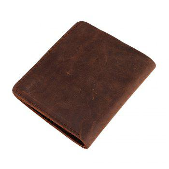 VICUNAPOLO V107 Leather Material Lightweight Men Wallet - BROWN VERTICAL