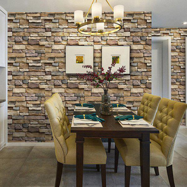 Home Decoration 3D Brick Texture Wall Sticker - SANDSTONE