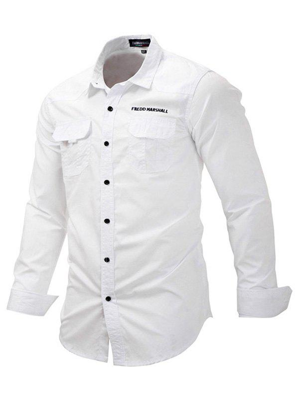 FREDD MARSHALL Male Casual Outdoor Regular Fit Shirt - WHITE M