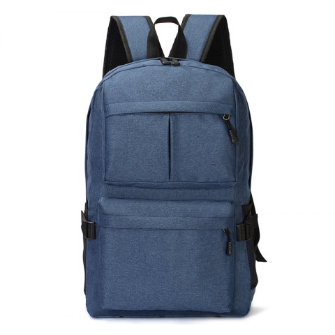 HUWAIJIANFENG Business Laptop Backpack with USB Charging Port - SAPPHIRE BLUE
