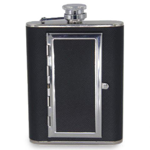 5 Ounce Creative Stainless Steel Cigar Box + Wine Pot - BLACK