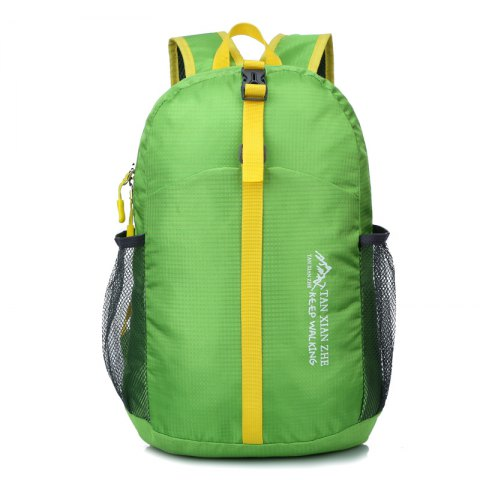 HUWAIJIANFENG Nylon Water-resistant Backpack - GREEN PEAS