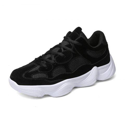Trendy Breathable Lace-up Sports Shoes for Men - BLACK 43
