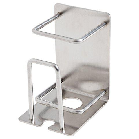 Stainless Steel Tooth Set Hanging Holder Punch Free - SILVER