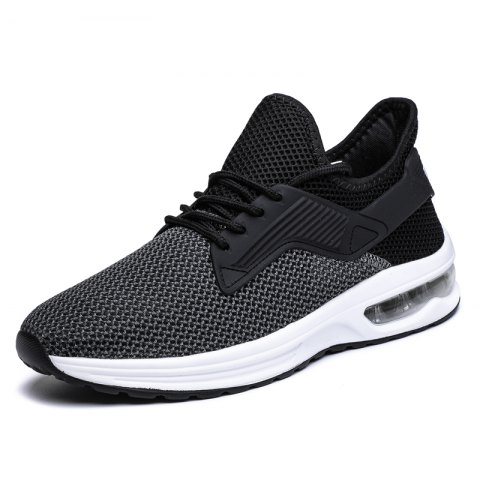 Men Chic Breathable Lace-up Sport Shoes - BLACK 42