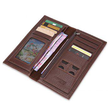 Durable Leather Fashion Wallet - DEEP BROWN