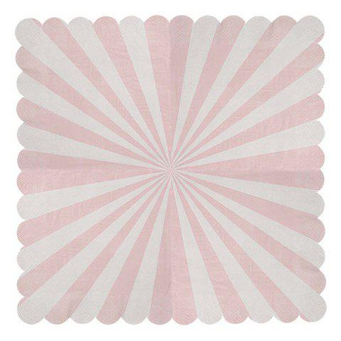 33CM Creative Stripe Napkin Tissue with Wave Shape Edge 20pcs - PINK