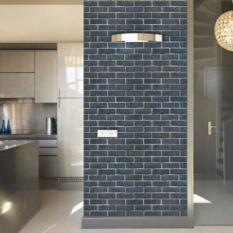 PVC Decorative Diverse Styles Wall Sticker - multicolor GRAY BRICK