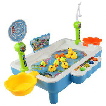 KM68016 Electric Magnetic Fishing Intelligent Set Toy for Children - BLUE EYES