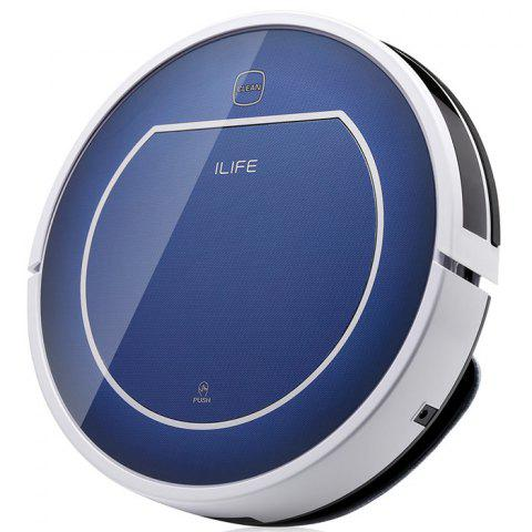 ILIFE V7 Smart Mute Sweeping Robot Automatic Rechargeable Vacuum Cleaner Remote Controlled Dust Cleaning - SAPPHIRE BLUE CHINESE PLUG
