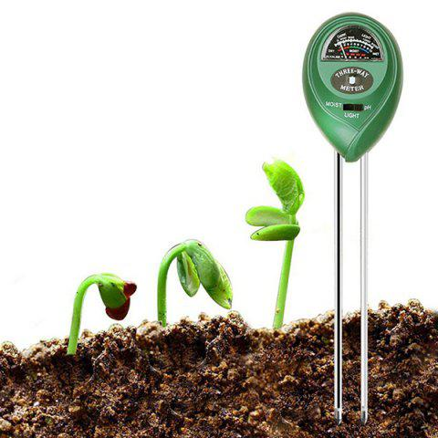 Portable Non-battery Soil Tester Garden Testing Device - FOREST GREEN