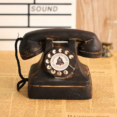Telephone Resin Table Decoration American Vintage Style - BLACK EEL