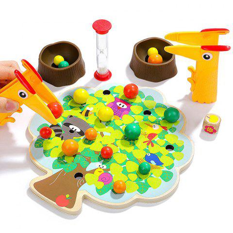 Topbright Wooden Fruit Trees Clip Blocks Educational Game Toy - multicolor A