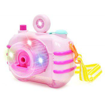 Light Music Bubble Camera Novelty Gag Toys - PINK