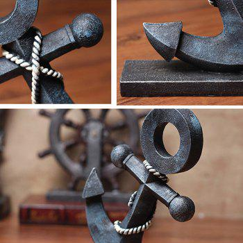 Creative Vintage Resin Marine Anchor Home Table Decoration - BLACK