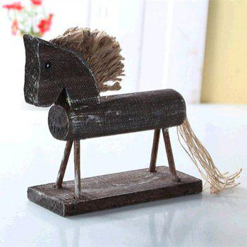 Handmade Trojan Ornament Home Table Decoration 1pc - GRAY