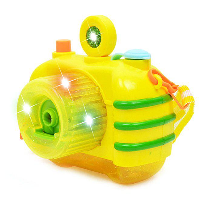 Light Music Bubble Camera Novelty Gag Toys - YELLOW