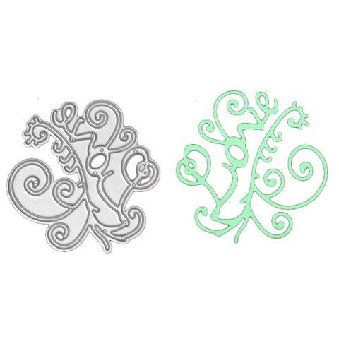 Creative DIY Embossed Carbon Steel English Words Pattern Cutting Die - SILVER LOVE