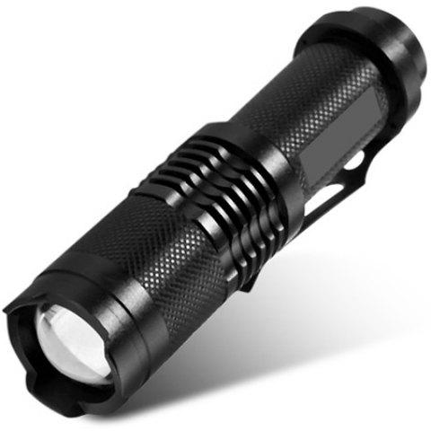 UltraFire Cree XML T6 1600Lm Retractable 18650 LED Flashlight Torch - BLACK